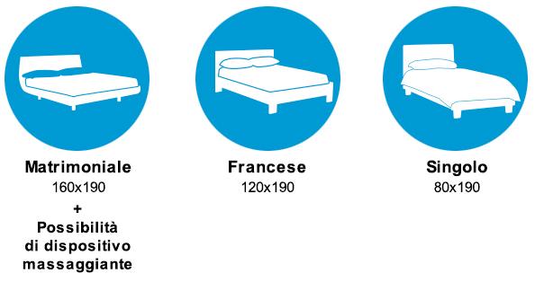 proposte di letti matrimoniali, francesi e singoli