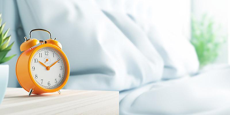 La sveglia indica che è l'ora di cambiare cuscino