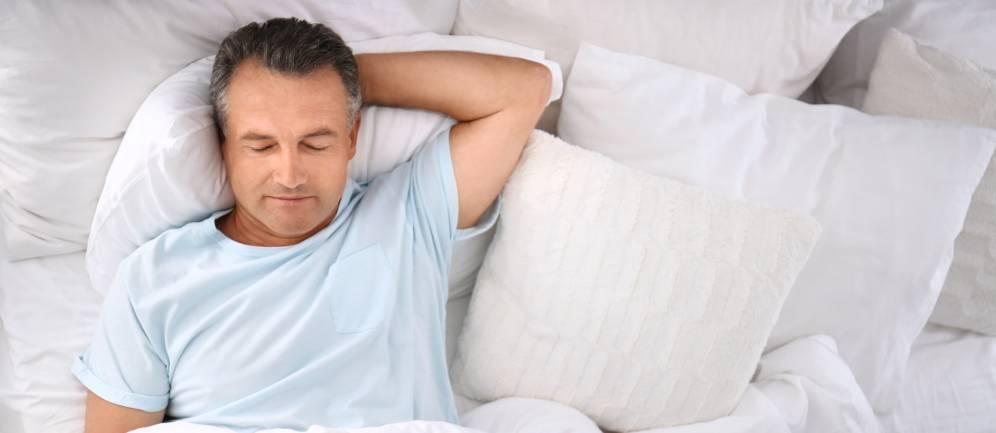 dormire bene nel letto Linea Riposo Montblanc